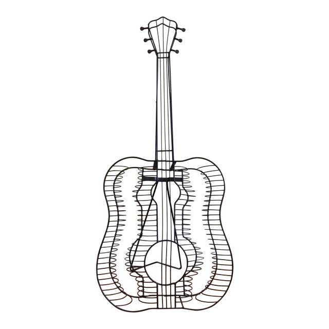 Vintage Metal Guitar Sculpture - Image 1 of 7