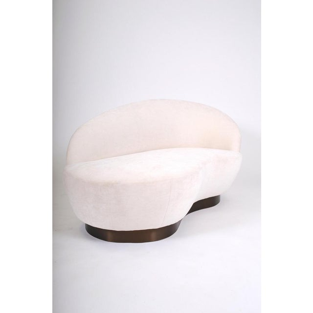 1980s Vladimir Kagan Mini Chaise Sofa For Sale - Image 5 of 7