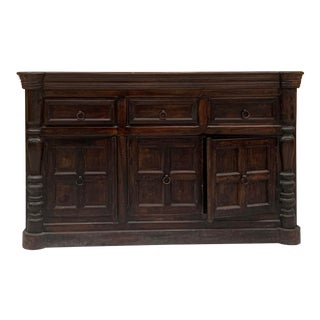 Early 20th Century Indian Rustic Teak Sideboard For Sale