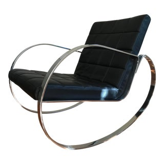 Modern Leather Rocking Chair For Sale