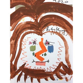 'Brown Locks' Framed Picasso Poster Painting by Sean Kratzert For Sale