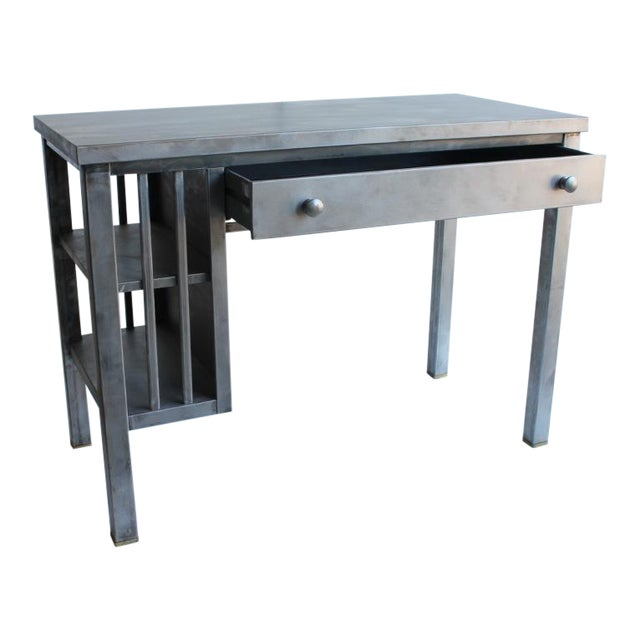 Mission Style Metal Desk For Sale - Image 4 of 4