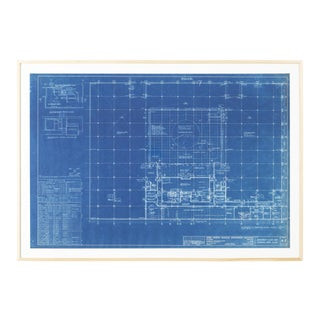 Mies Van Der Rohe Blueprint, 4000 N. Charles Baltimore, 1964, Lower Levels For Sale