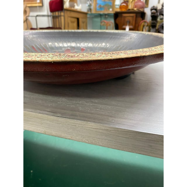 Mid-Century Modern 1970s Mid-Century Modern Decorative Clay Bowl For Sale - Image 3 of 4