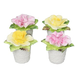 Coalport Flower Pot Salt & Pepper, S/4 For Sale