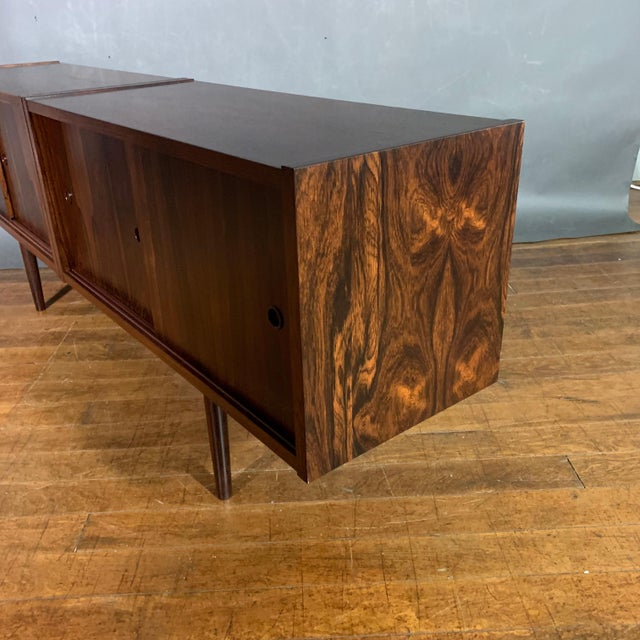 1950s Peter Sorenson Double Low Rosewood Credenza, Denmark 1950s For Sale - Image 5 of 11