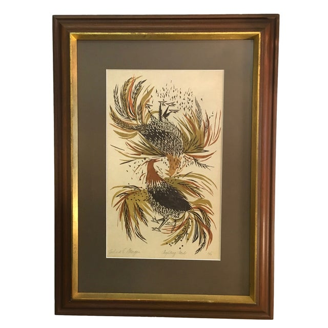 Signed & Numbered Richard E. Morgan Block Print - Image 1 of 6