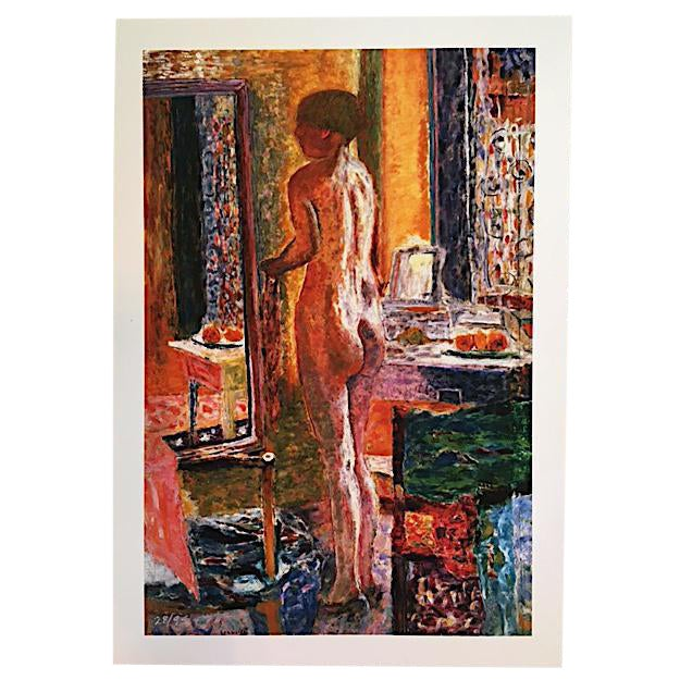 """Pierre Bonnard """"Nude at Mirror"""" Print For Sale"""