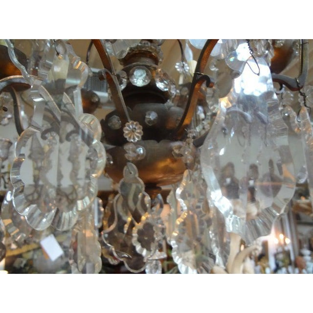 Antique French Maison Baguès Attributed Beaded and Crystal Chandelier For Sale - Image 11 of 13