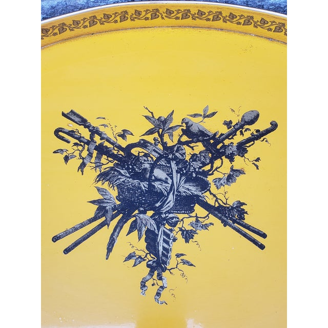 Vintage Italian Tole Painted Buttler Table Tray For Sale - Image 4 of 13