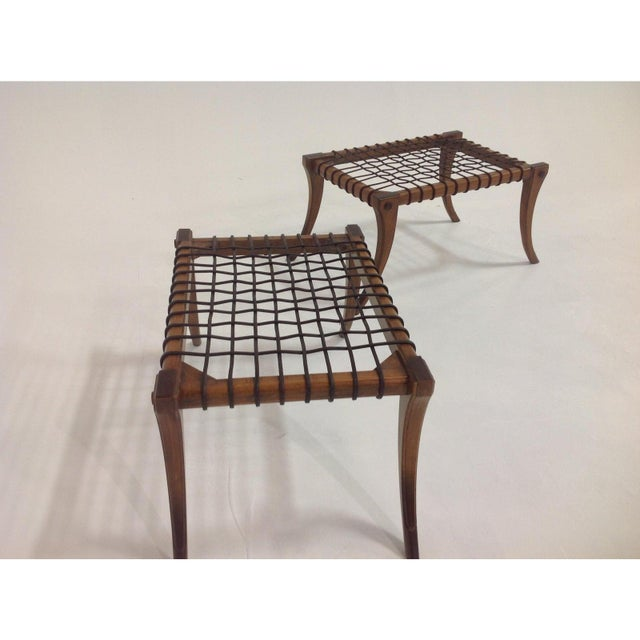 Modern Klismos Style Ottomans- a Pair For Sale - Image 4 of 6