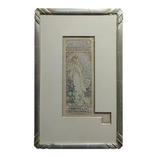 Alphonse Mucha La Dame Aux Camelias -1898 Original Lithograph For Sale