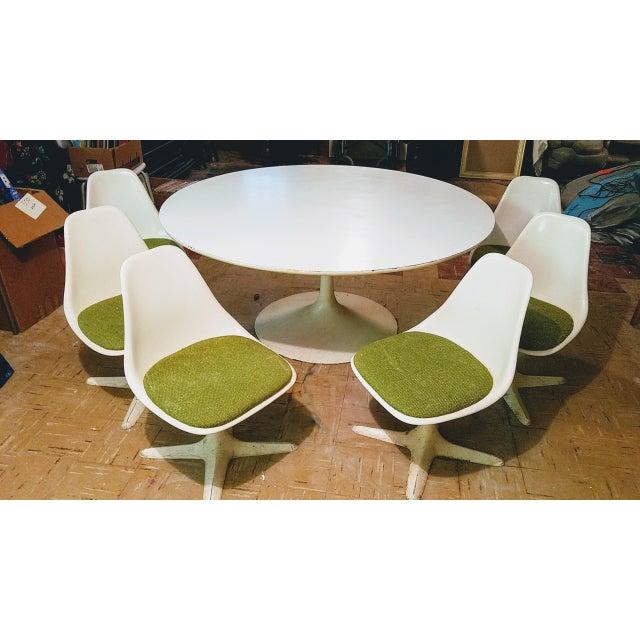 Tulip Inc. Burke Saarinen Tulip Table & 6 Chairs For Sale - Image 4 of 11