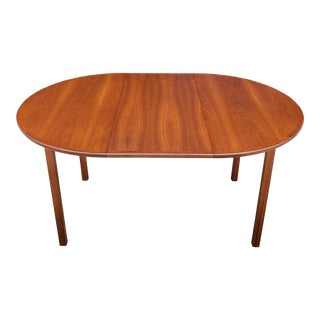 1960s Vintage Scandinavian Style Walnut Dining Table For Sale