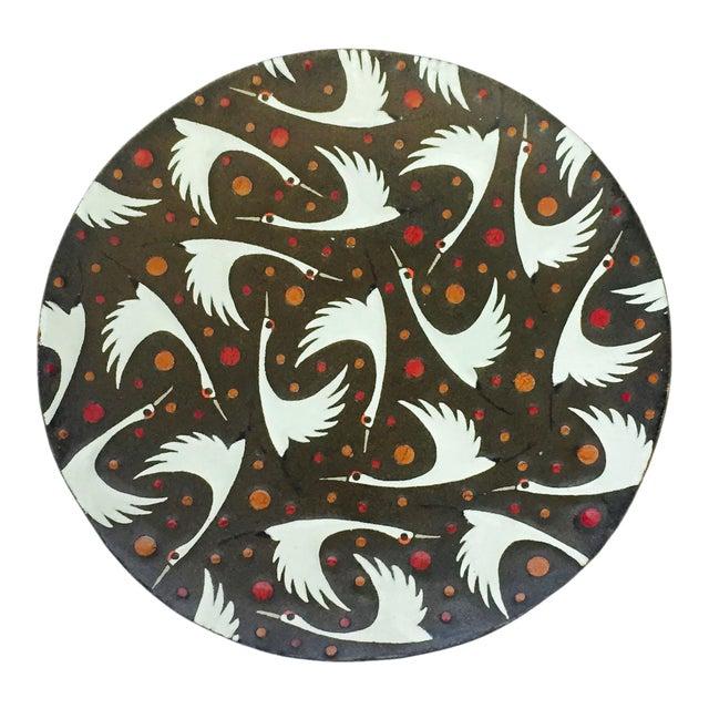 Mid Century Enamel Birds Decorative Plate - Image 1 of 6