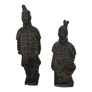 Terra-Cotta Warrior Statues - A Pair