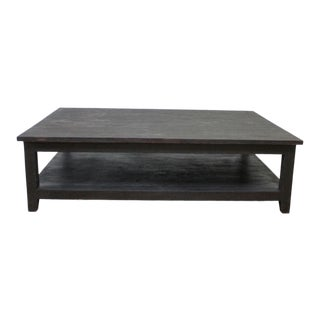 Contemporary Large Ebony Stained Coffee Table For Sale