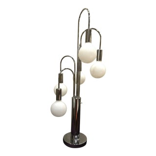 Robert Sonneman Chrome 5 Globe Waterfall Lamp For Sale
