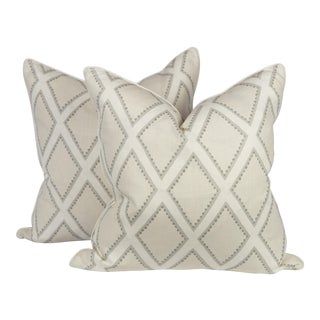 Oyster Linen Brookhaven Pillows, a Pair For Sale