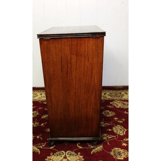 Art Deco Prohibition Era Radio Cabinet Concealed Bar Cart For Sale - Image 6 of 8