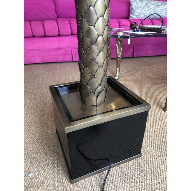 Eichholtz Handcrafted Vintage Brass Finish Palm Tree Floor Lamp For Sale In Miami - Image 6 of 12