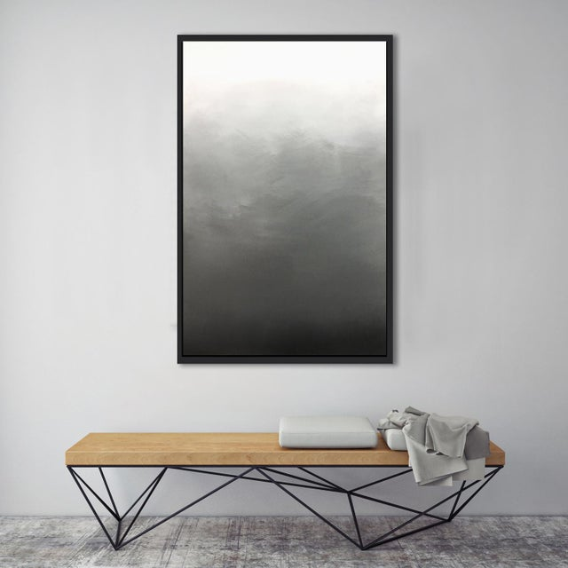 """""""Abstract Gray Ombré"""" Framed Giclée Print - Image 3 of 3"""