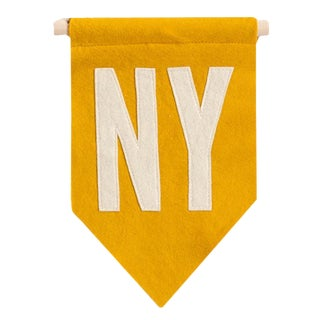 Mustard Yellow NY Flag For Sale