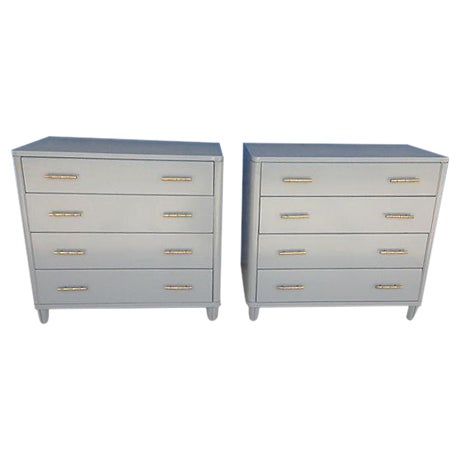 Gray Mid-Century Bachelor Chests - A Pair - Image 1 of 7