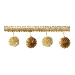 13.5 Yards -Gold Pompom Tassel Fringe For Sale