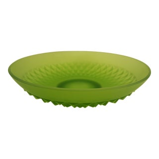 Indiana Glass Lime Mist Diamond Point Bowl For Sale