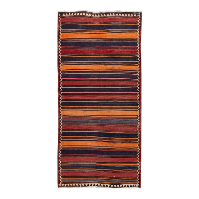 "Mid-20th Century Vintage Kilim Runner Rug 5' 2"" X 10' 10''. For Sale"