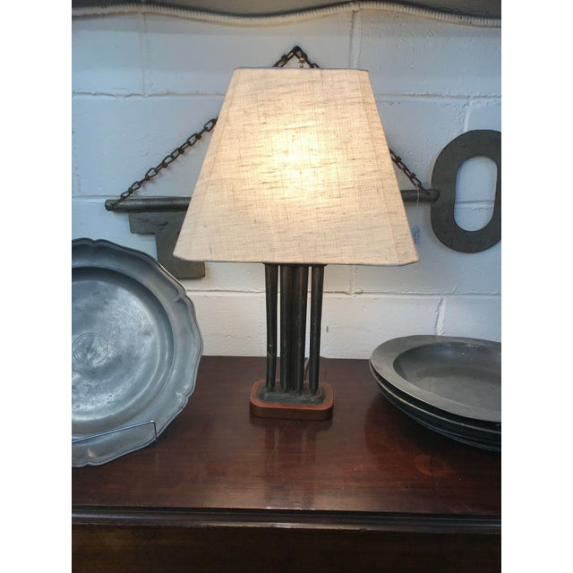 Antique Tin Candle Mold Lamp For Sale - Image 4 of 4