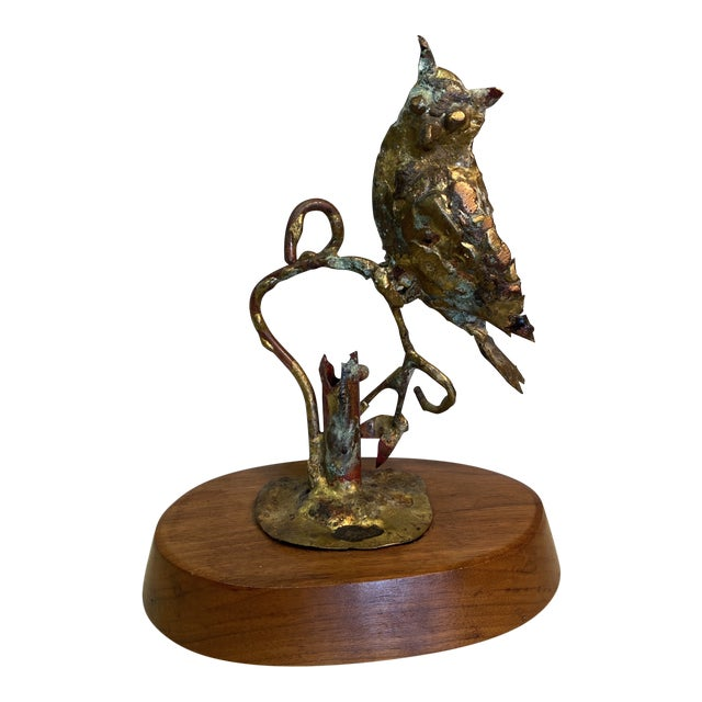 1970s Bill Lett Brutalist Owl Sculpture For Sale