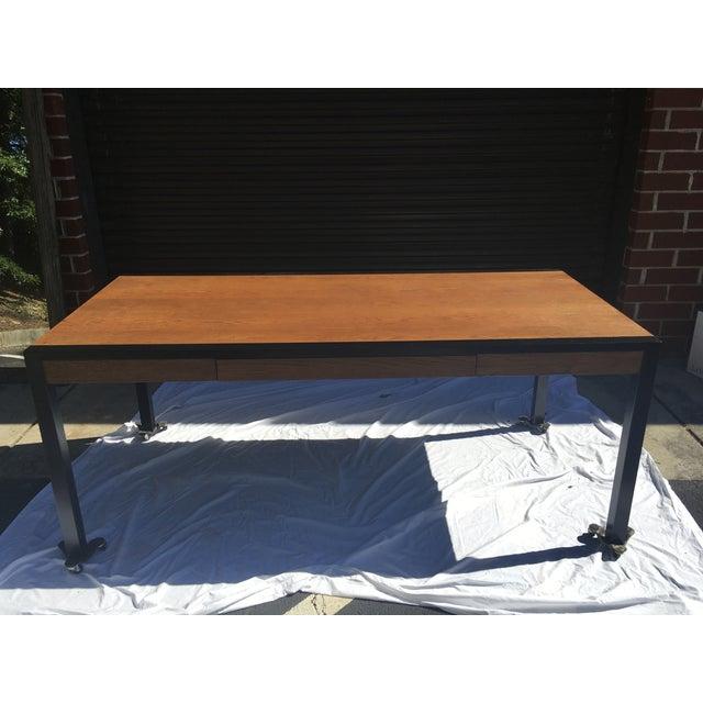 Harvey Probber Oak Desk For Sale - Image 11 of 13