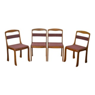 Steven Mackintosh Studio Crafted Set of 4 Solid Walnut Dining Chairs