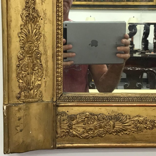 French Empire Style Giltwood Mirror For Sale In Tampa - Image 6 of 9