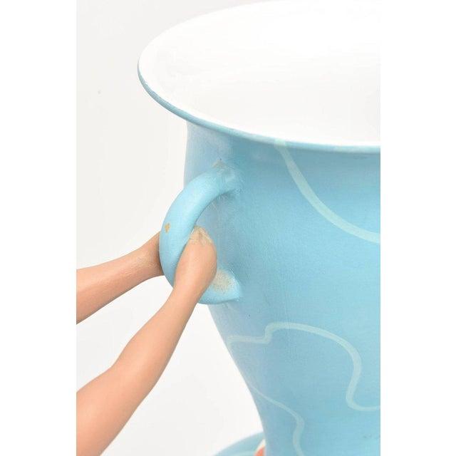 """Italian L""""Aquilone Hand-Painted Ceramic Vessel/ Vase/ Sculpture - Image 9 of 12"""