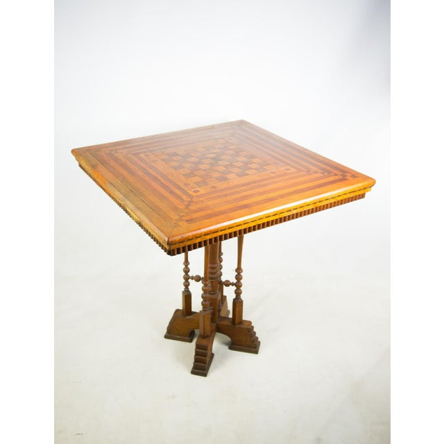 English Traditional 19th C. Victorian Parlor Game Table For Sale - Image 3 of 11