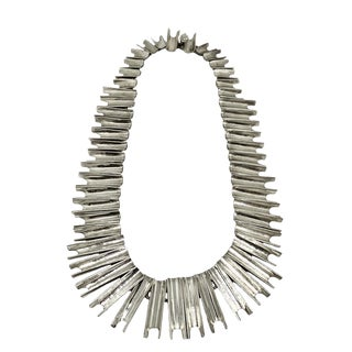 Articulated Vintage Mexican Sterling Silver Link Necklace For Sale