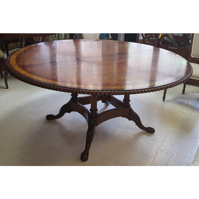 Traditional Traditional Millender Round Mahogany Dining Table For Sale - Image 3 of 13