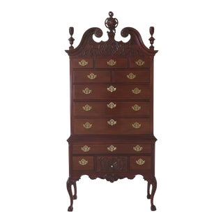Councill Craftsmen Ball & Claw Rococo Mahogany Highboy For Sale