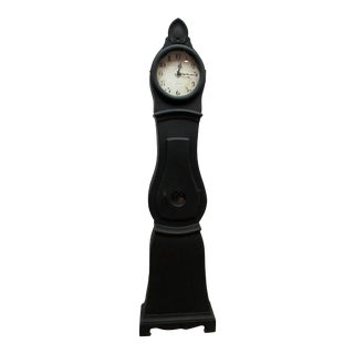 Swedish Mora Black Clock For Sale