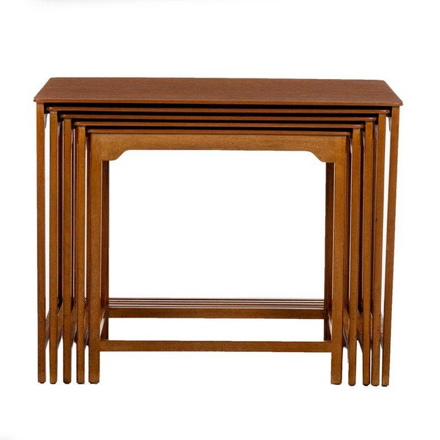Mahogany Edward Wormley Nesting Tables For Sale - Image 7 of 7