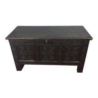 17th Century English Traditional Oak Chest or Coffer