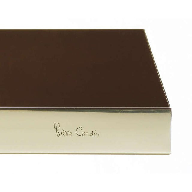 Pierre Cardin Chrome & Dark Chocolate Brown Dining Table - Image 7 of 7