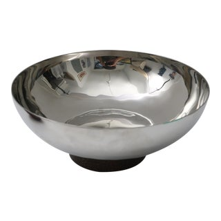 Stainless Steel & Wood Serving Bowl by Atticus