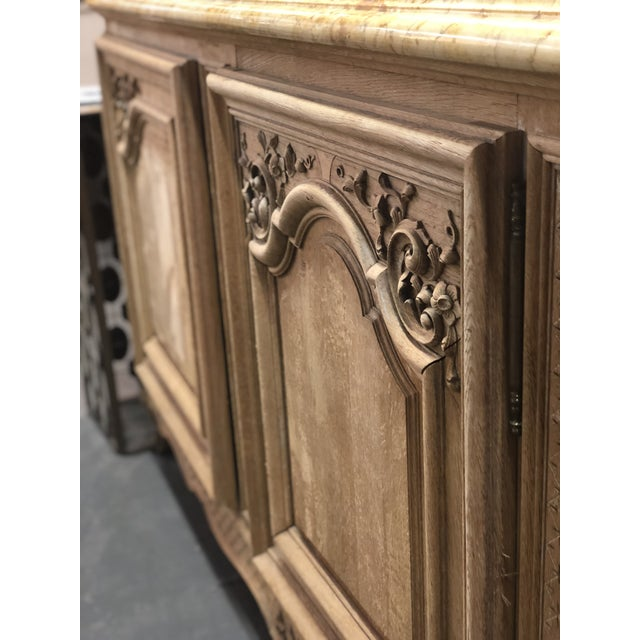 French French Regency Marble Top Enfilade For Sale - Image 3 of 7