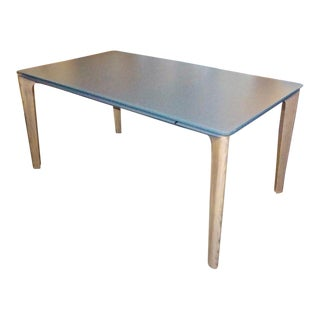 Italian Glass-Top Extension Dining Table For Sale