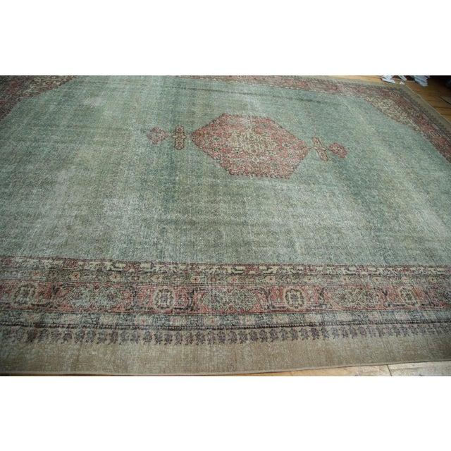 "Distressed Oushak Carpet - 8'6"" X 11'6"" - Image 9 of 10"