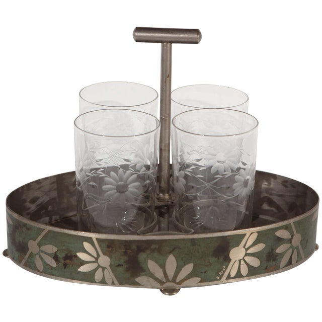 Dinanderie Cocktail Caddy For Sale